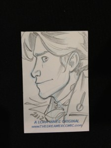 Nathan Hale Sketch Card by Lora Innes