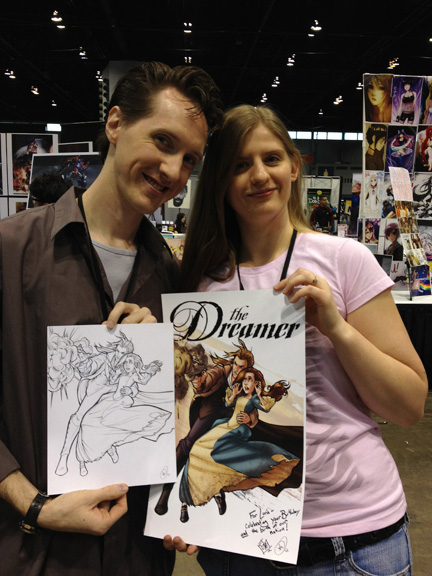 Comfort Love and Adam Withers drew a Dreamer poster.