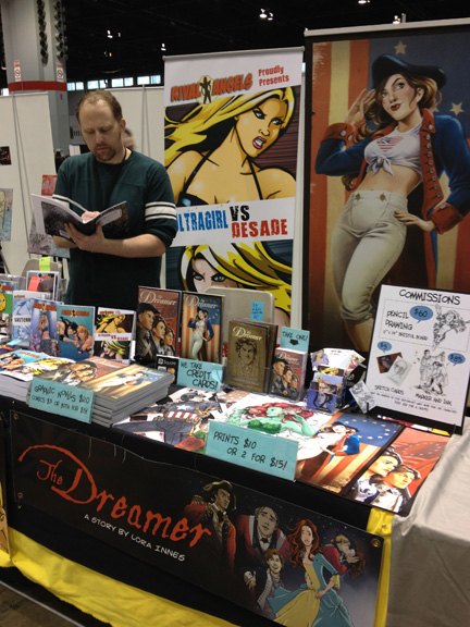 The Rival Angels / The Dreamer table at C2E2