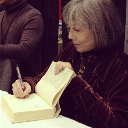 Anne Rice signing a book at C2E2