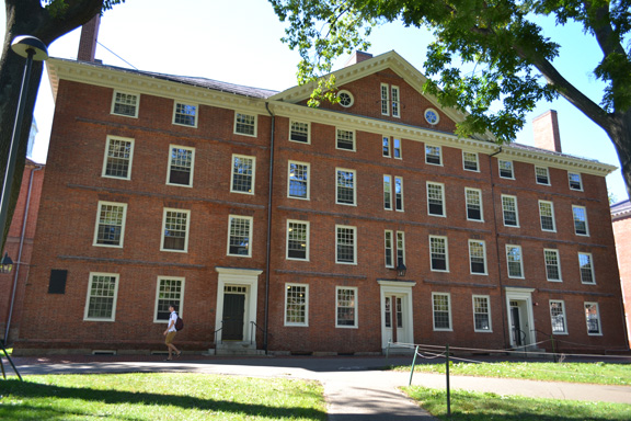 Hollis Hall in Historic Harvard Yard
