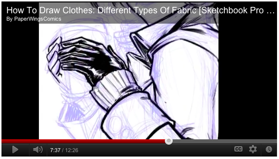 how to draw clothes video tutorial