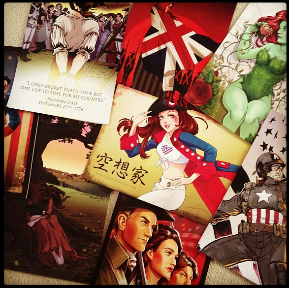A few other images: Dreamer covers, WWII Captain America, Poison Ivy, Manga Bea and Nathan Hale's last stand.
