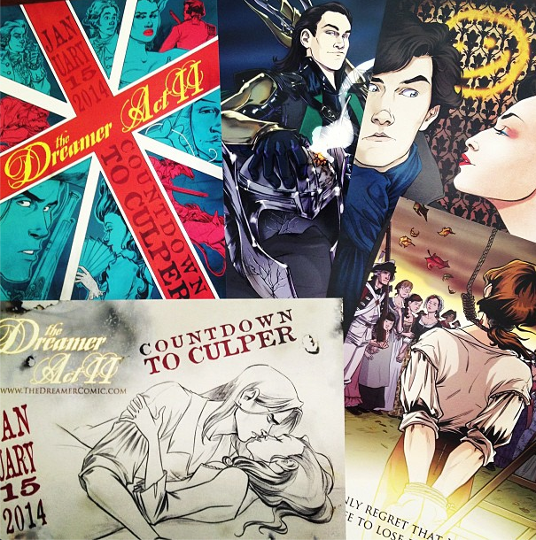 Brand new for Otakon 2013: Countdown to Culper A and B sides, Loki > Thor, and I AM SHER-LOCKED prints!